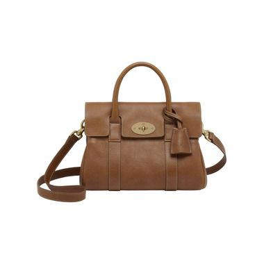 Mulberry - Small Bayswater Satchel in Oak Natural Leather With Brass