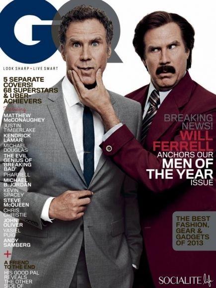 GQ Magazine lists their 2013 men of the year. Each man has their own cover.