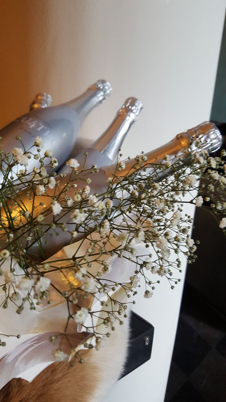De heerlijkste Cava in de mooiste flessen. Detail op bar. Prachtige capiz schaal. Restyling Wasserman Brasserie naar Vinerie