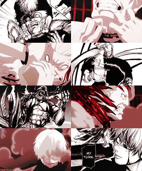 Tokyo Ghoul Manga Vs. Anime | Ken Kaneki and Yakumo / Jason's Fight