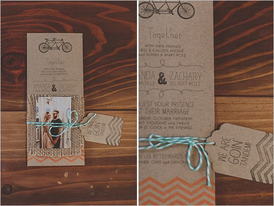 Kraft Paper Wedding Invitations-so adorable @Jaclyn Simmons this is so you