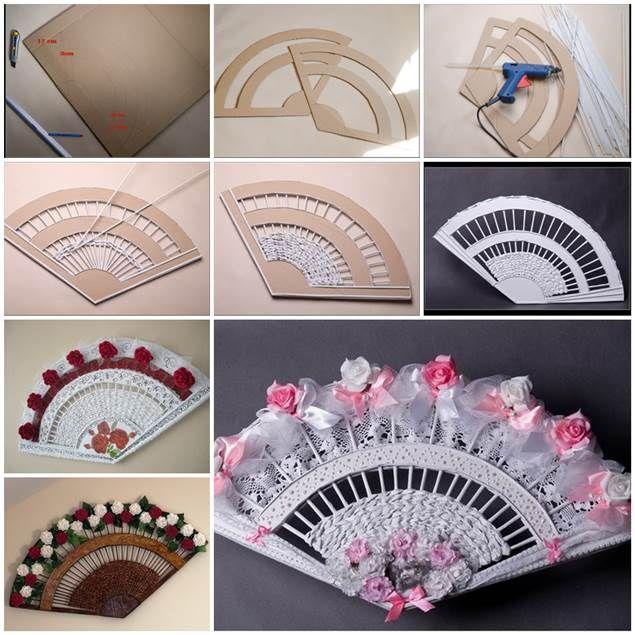 DIY Decorative Fan from Old Newspaper and Cardboard | iCreativeIdeas.com LIKE Us on Facebook ==> https://www.facebook.com/icreativeideas