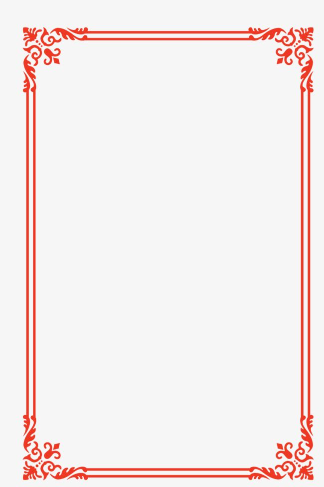 European Lace Red Festive Year Frame Border Vector Png And Vector Clip Art Frame Vector