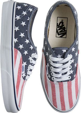Vans Authentic American Flag printed shoe. http://www.swell.com/New-Arrivals-Womens/VANS-AUTHENTIC-SHOE-37?cs=MU