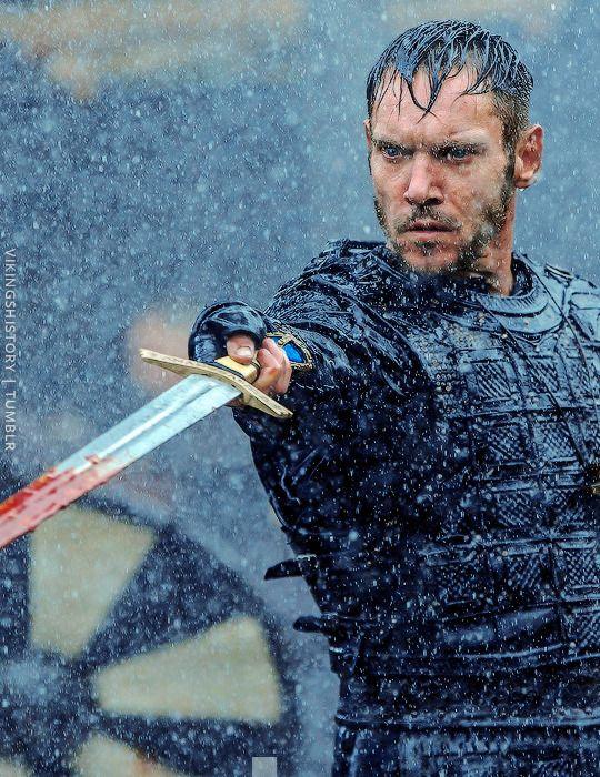 The warrior bishop Heahmund, played by new series regular Jonathan Rhys Meyers in Season 5 | Vikings S5