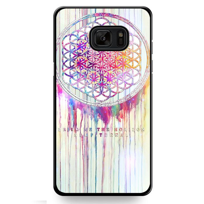 Bmth Sempiternal In Rainbow Watercolor Drop Bring Me The Horizon TATUM-1970 Samsung Phonecase Cover For Samsung Galaxy Note 7