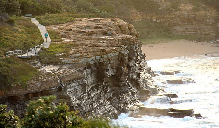 Located near Gosford, Bouddi coastal walk is known for its beaches, boardwalk and birdlife. Go whale watching, picnic or swim at Maitland Bay, or simply absorb the ocean views.