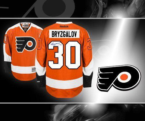 0be044991 ... Ilya Bryzgalov Philadelphia Flyers Autographed Reebok Jersey . 384.75.  This is an official licensed Ilya