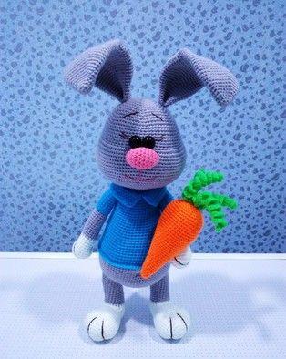 Заяц Стёпка схема вязаной игрушки крючком