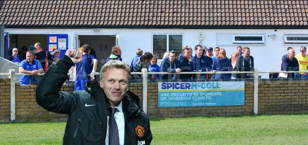 Manchester United legend David Moyes is all set to take over as manager of Wivenhoe Town Football Club. www.facebook.com/katie.perchanski  @wivenhoewatcher