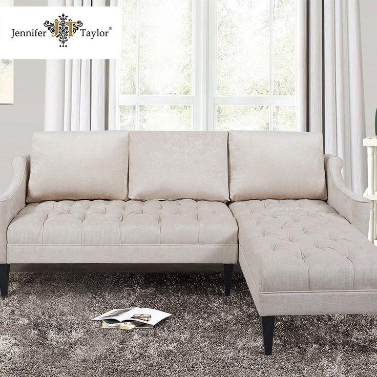 Leather Sofa  hot selling living room furniture cheap small L shaped bine sofa lounge fabric corner sofa