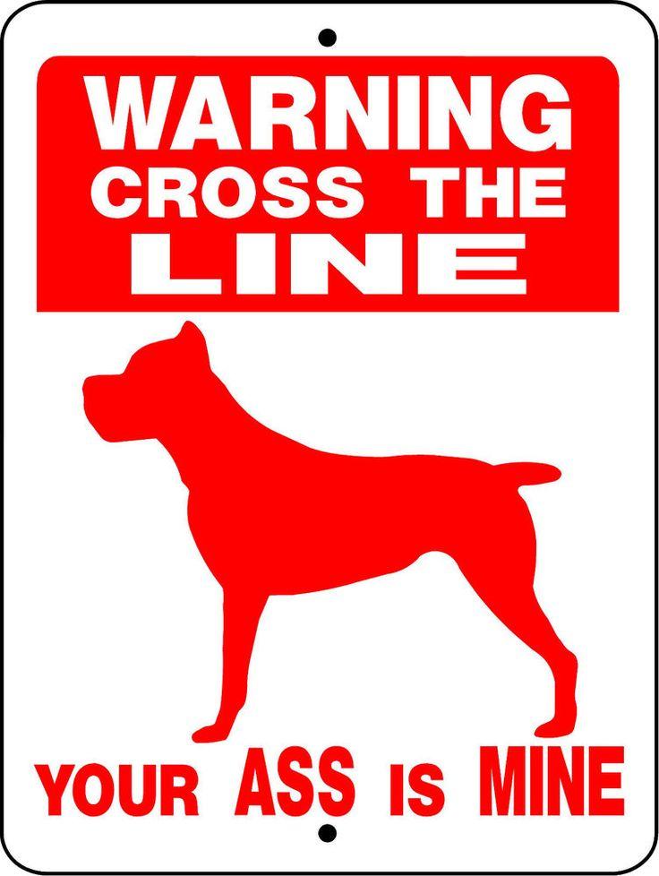 """CANE CORSO Guard Dog Aluminum Sign  Vinyl Decal 12"""" x 9"""" VINYL GRAPHICS 824CC"""