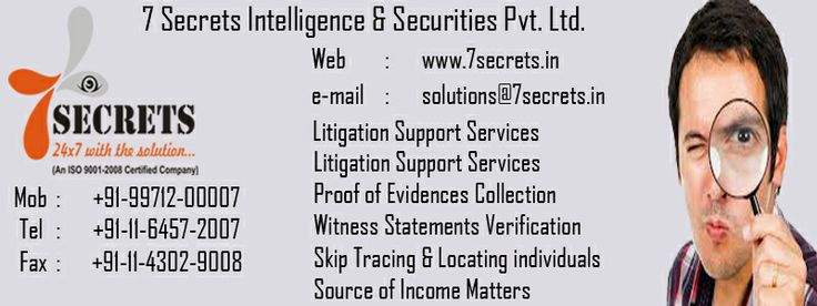 7-Secrets Intelligence services http://7secrets.in/Corporate.php