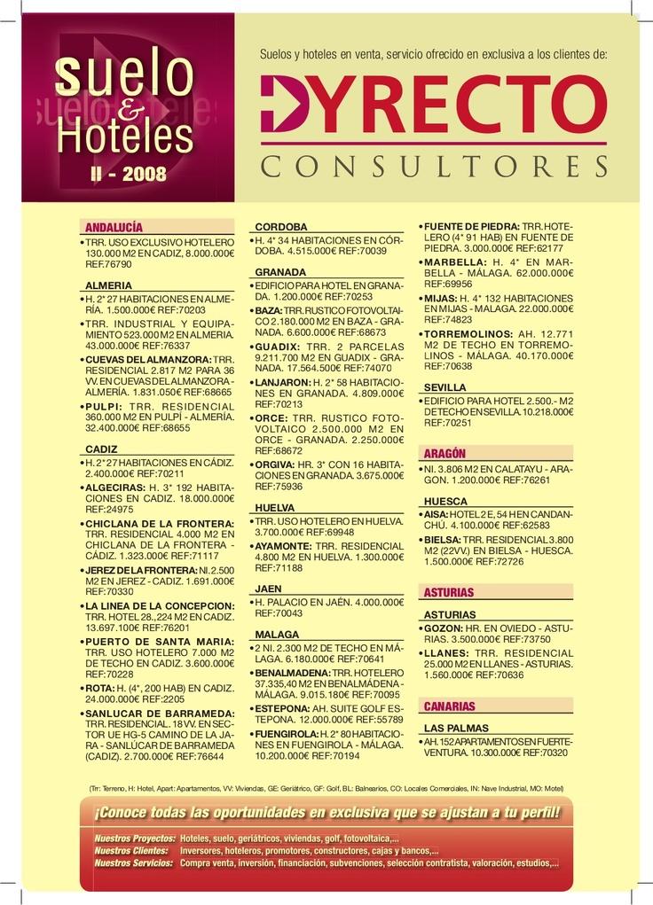boletin-2008. Venta de suelo, hoteles, golf, geriátricos...