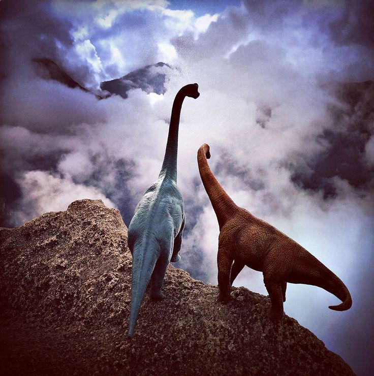 """Over the last few years we've seen several series where people use toys, pets, and unwitting significant others as props to liven up their travel photos. Photographer Jorge Saenz decided to pounce on the idea with his """"#dinodinaseries"""" that incorporates a small herd of plastic din"""