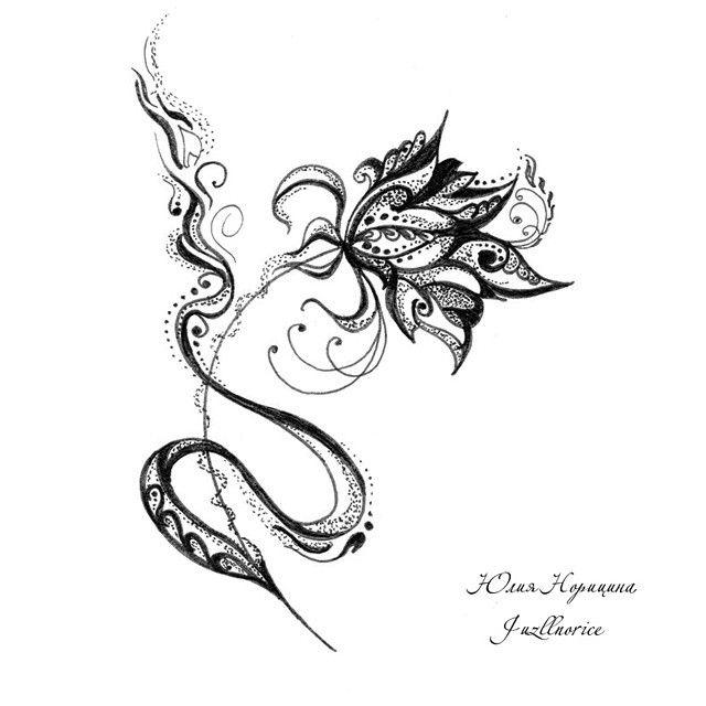 #graphic #flower by Yuliya Noritsina