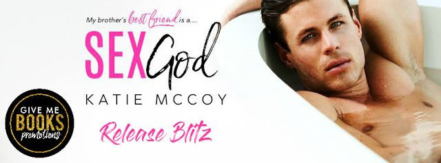 Sex God by Katie McCoy   Title: Sex God  Author: Katie McCoy  Genre: Contemporary Romance  Release Date: February 19 2018  Blurb  My brothers best friend is a sex god and it's time to even the score  Austin James was always my #1 crush - and off-limits - until a college hook-up showed me he was every bit the playboy his reputation promised. Now hes back after a mysterious break from the spotlight offering an exclusive profile that could make any journalists career.  And he picks me.  Two…