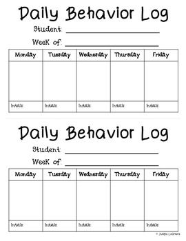 This is a great way to communicate to parents each day. Let them know how their child is doing and work as a team to help solve any problems you may be having.   There are two different sheets available: -One that could be cut in half  -One that could be added into their homework folder as a full page and used for 2 weeks   You could also have an incentive for your students each week if their log was initialed every day by their parents.