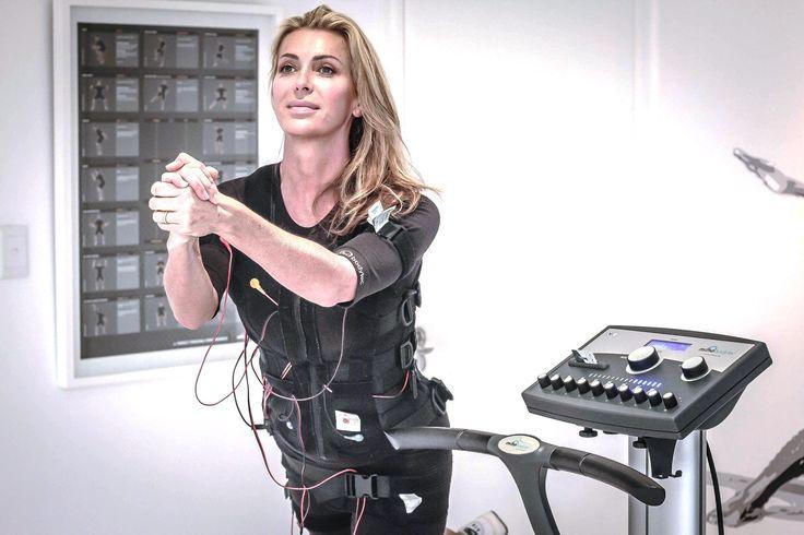 Leah Ballan training at STUDIO20 Electro Muscular Stimulation EMS
