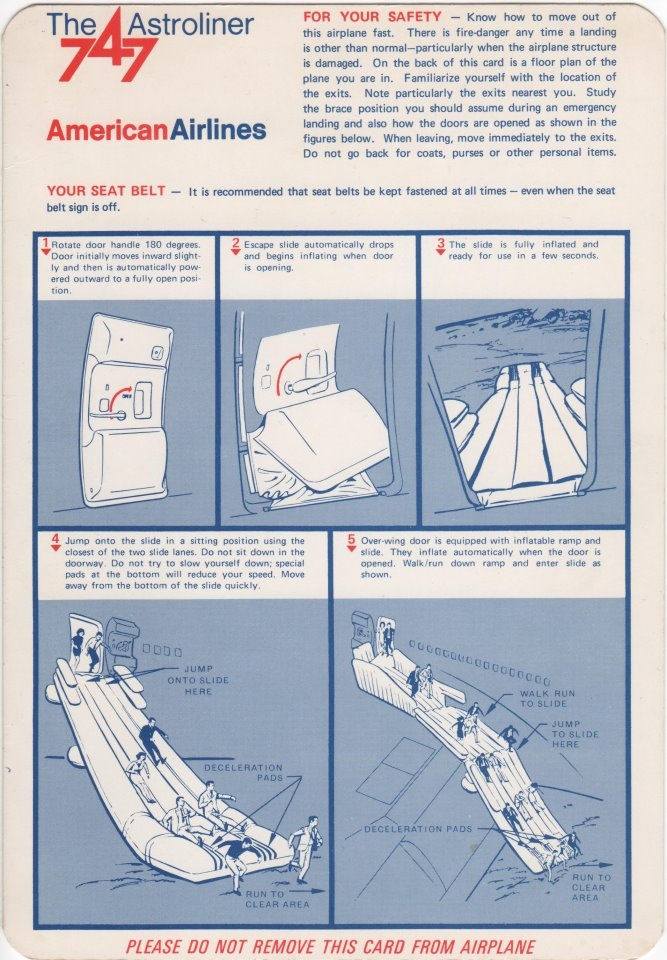 17 Best Images About Airline Safety Cards On Pinterest Canada America And World