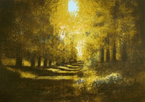 Aidan Flanagan: Oak Avenue, Kilmacurragh, screenprint,  €400 @ www.inisink.ie  Irish art from our walls to yours