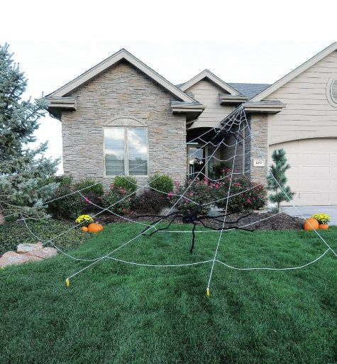 giant spider web yard decoration 25ft party city - Spider Web Decoration For Halloween