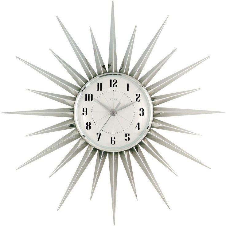 Stella Silver Wall Clock 43cm