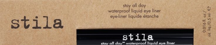 Women's Stuff: Stila Stay All Day Waterproof Liquid Eye Liner in Intense Black ~ Review,Picture and Swatch  #stila  #stilacosmetics #stilaeyeliner  #eyeliner #eyes #waterproof #penliner #felttip #intenseblack #black #liquidliner #picture #review #productreview #swatch #swatches #hgproduct