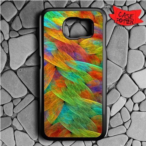 Feathers Of The Rainbow Bird Samsung Galaxy S6 Black Case