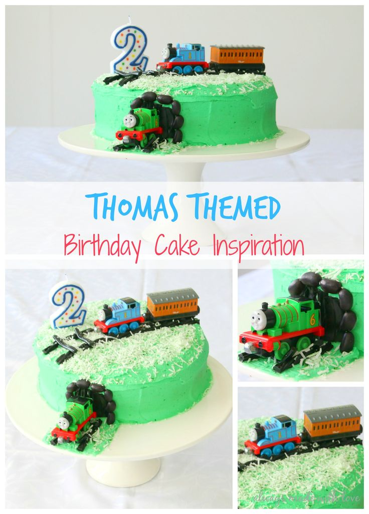 A Thomas themed birthday cake is perfect for the Thomas loving toddler. See how I made this simple yet effective cake starring Thomas the Tank Engine