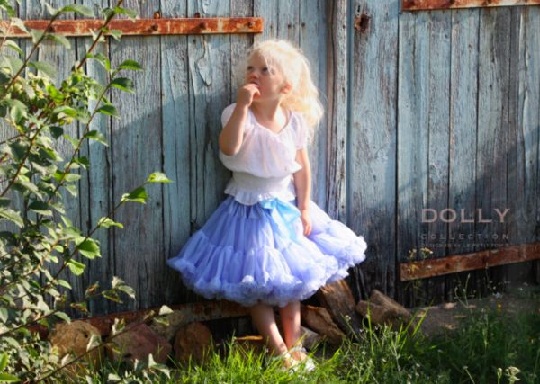 DOLLY by Le Petit Tom ® ALICE IN WONDERLAND pettiskirt light blue