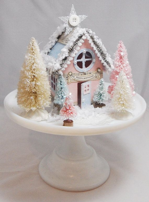 Winter Onederland House Centerpiece by CardsandMoorebyTerri, $35.00
