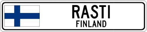 RASTI, FINLAND - Finland Flag Aluminum City Sign - http://www.tutorfrog.com/rasti-finland-finland-flag-aluminum-city-sign-2/  #Toys #Coolproducts #Bestsellers