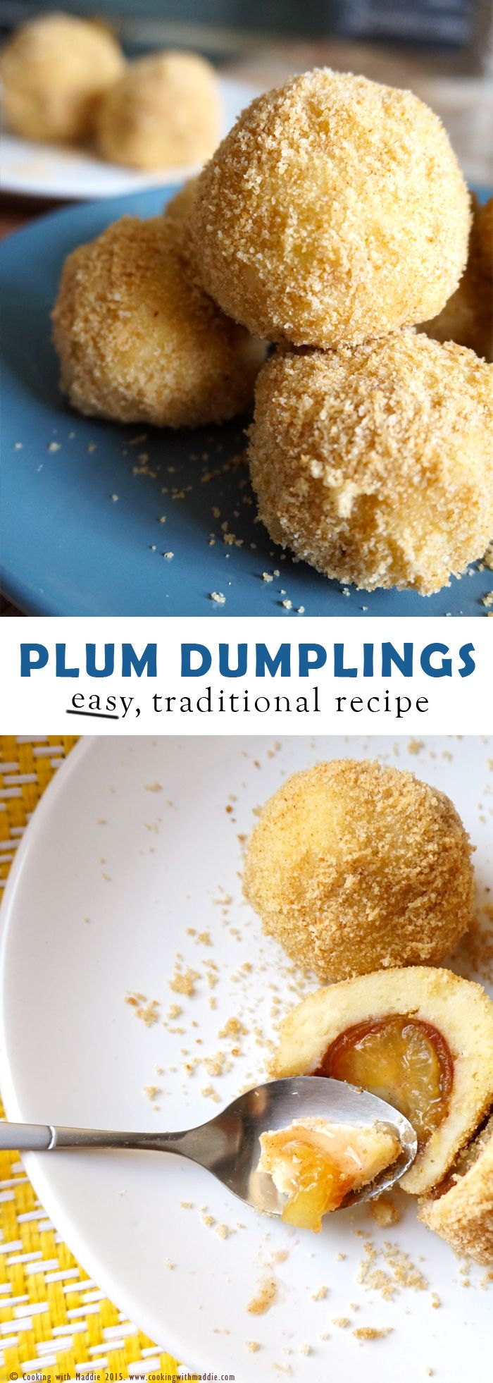 I love making these plum dumplings. The smell, the burst of warm aromas when you bite into them, the beautiful texture of the crumbs...they're so hard to resist!! @cookingwmaddie www.cookingwithmaddie.com
