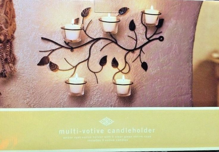 TARGET Multi-Votive Metal Candle Holder With 5 Clear Glass Votive Holders. New. #Target