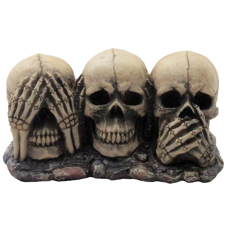 No Evil Skulls Figurine Halloween decors