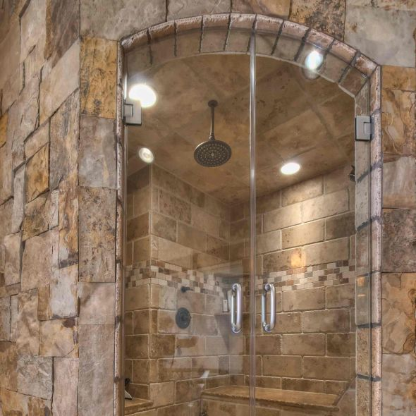 luxury walk in showers pinned by marilou huxman