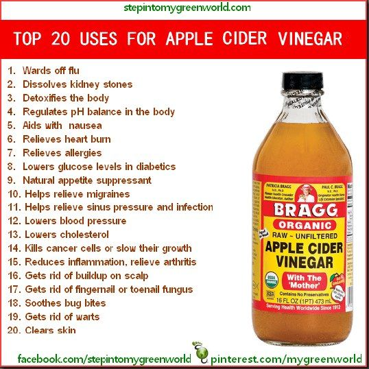 Top 20 Uses for apple cider vinegar