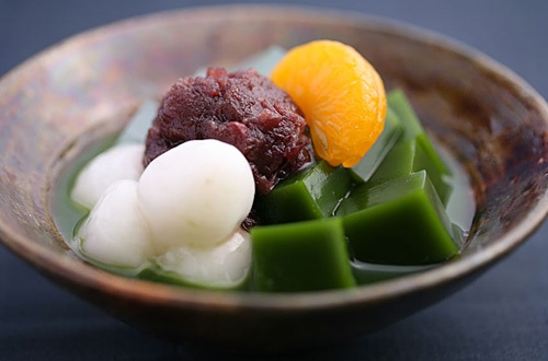 Sweet at Ito Kyuemon Sabo, Kyoto, Japan (http://www.itohkyuemon.co.jp/)