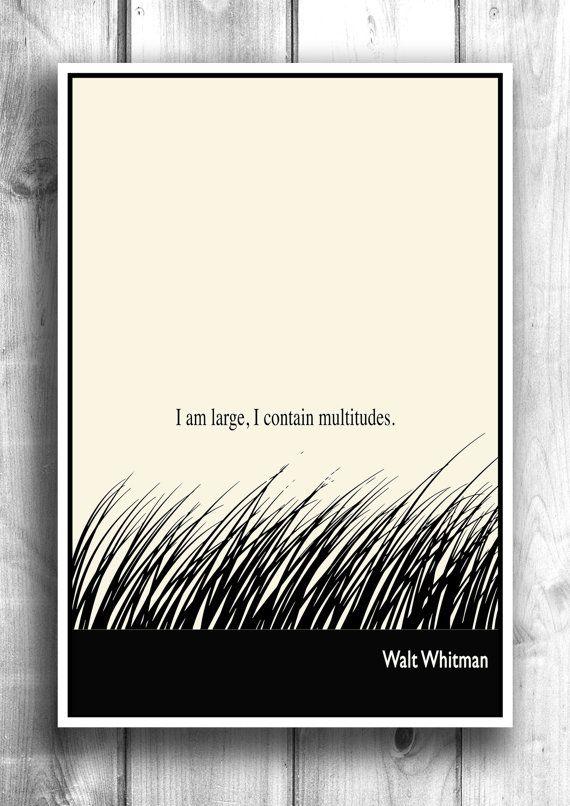 Typographic Print Literary Art Illustration Print Nature by Lit101