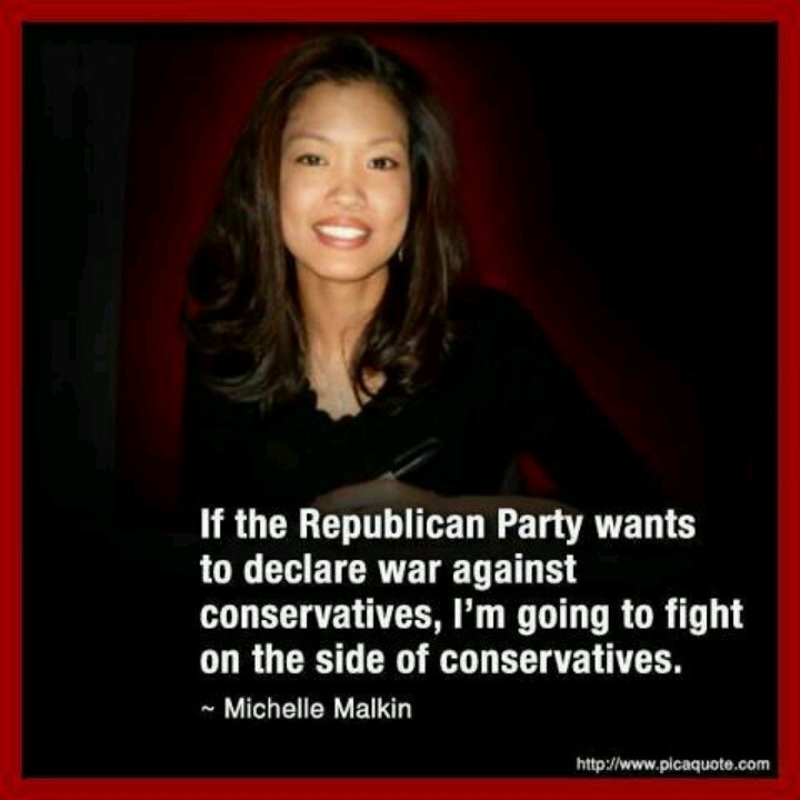 Michelle Malkin calls out RINOs. (Republican in name only).  RINOS in the Senate are lead by John McCain