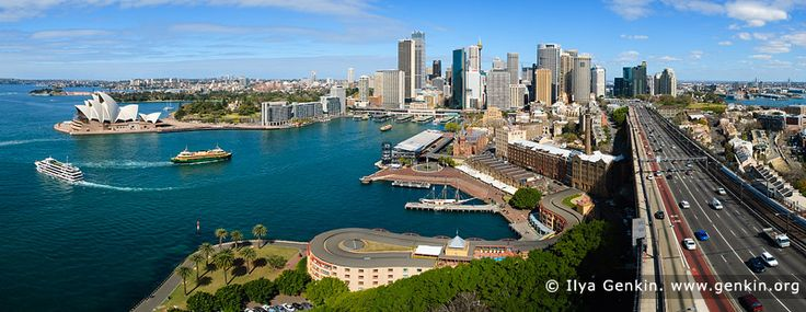 Panoramic View of the Sydney City, Sydney, NSW, Australia by Ilya Genkin