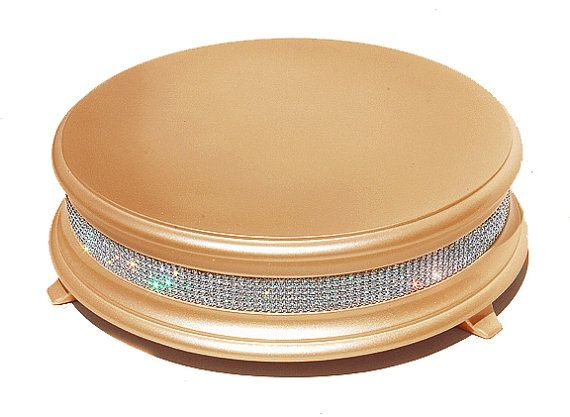 22 inch Gold Diamond Wedding Cake Stand (custom made, also available in champagne gold)