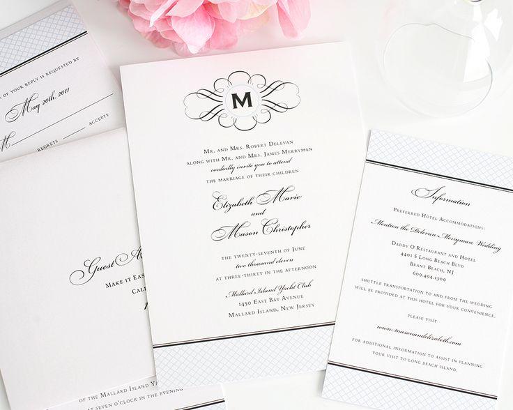Best 25 Monogram wedding invitations ideas on Pinterest Wedding