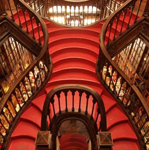 Lello Bookshop, Porto, Portugal has one of the World's Coolest Staircases according to Travel & Leisure Magazine - March 2012