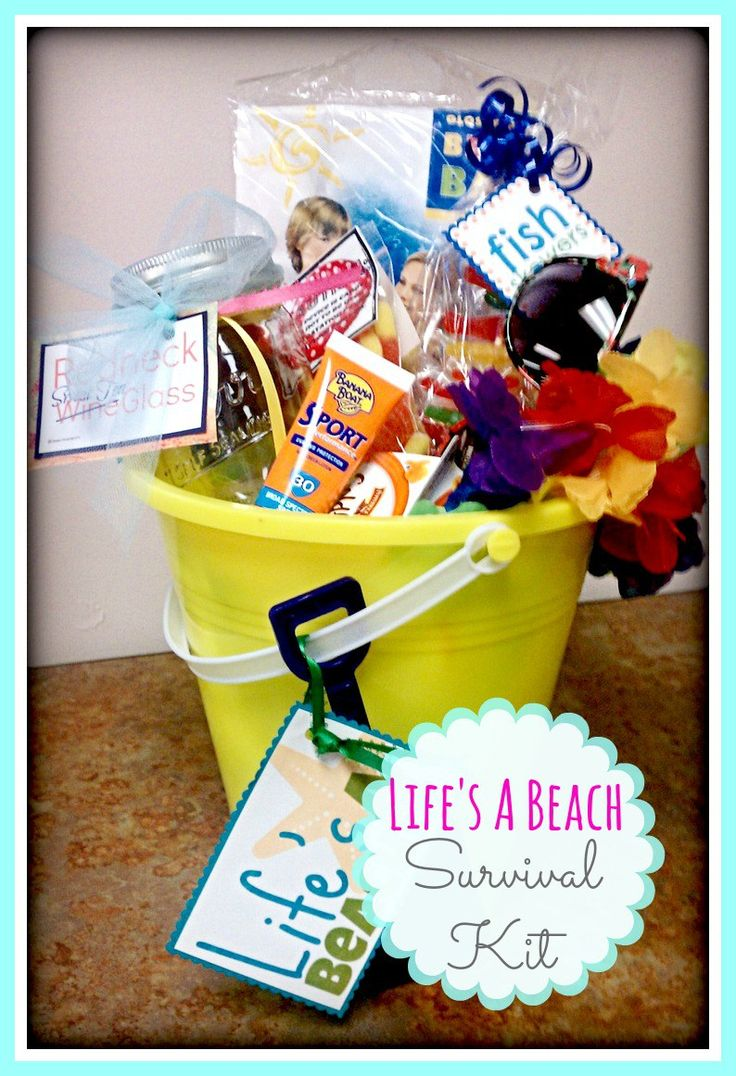 Life's a Beach Survival Kit Bucket // Free Printable