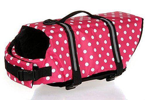 Wuudi Float Life Dog Life Jacket Medium Pet Dog Saver Life Vest Coat Medium with sunglasses -- Visit the image link for more details.