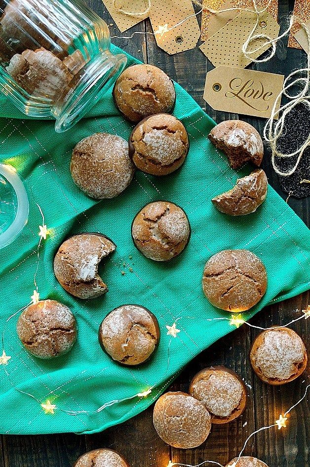 Chocolate dipped Lebkuchen - German spiced honey biscuits (cookies) similar to gingerbread, perfect for Christmas!