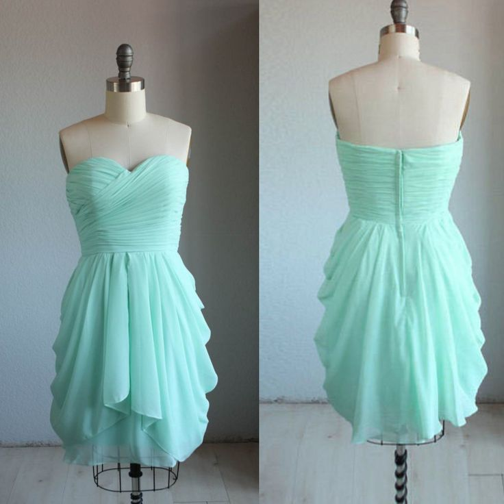 Дешевое 2015 милая линии короткие мини зеленая мята платье невесты для свадьбы…