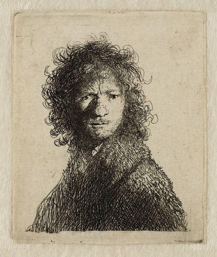 Mijn favoriete Rembrandt in Teylers Museum: Rembrandt, zelfportret (B10)